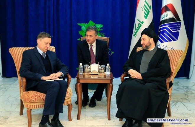 Sayyid Ammar al-Hakim receives German ambassador to Baghdad to discuss bilateral relations