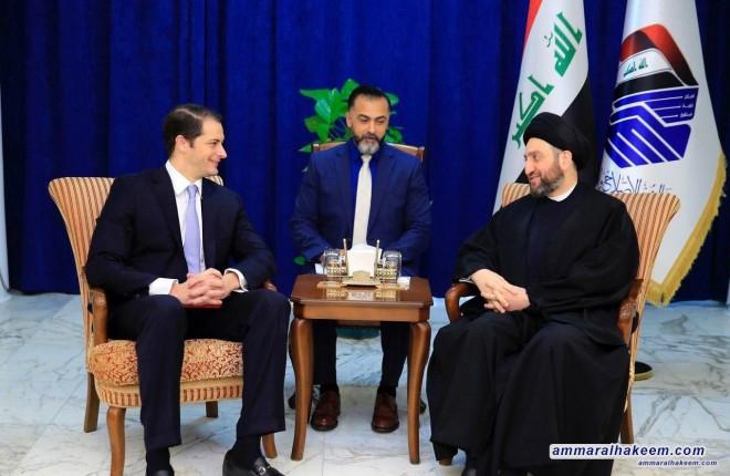 السيد عمار الحكيم يستقبل مساعد نائب وزير الخارجية الاميركي اندرو بيك ويبحث مع مستجدات الوضع السياسي ومكافحة الارهاب