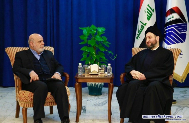 Sayyid Ammar al-Hakim receives the Iranian ambassador to discuss bilateral relations and political developments