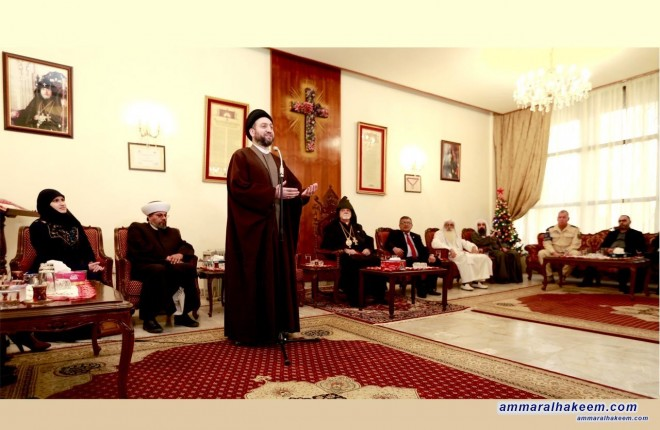 Sayyid Ammar al-Hakim stresses the importance of following the path of tolerance, peace and coexistence under the umbrella of Iraq