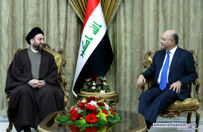 Sayyid Ammar al-Hakim with the President Iraq to discuss results of regional tours and stresses its importance to present the Iraqi reality