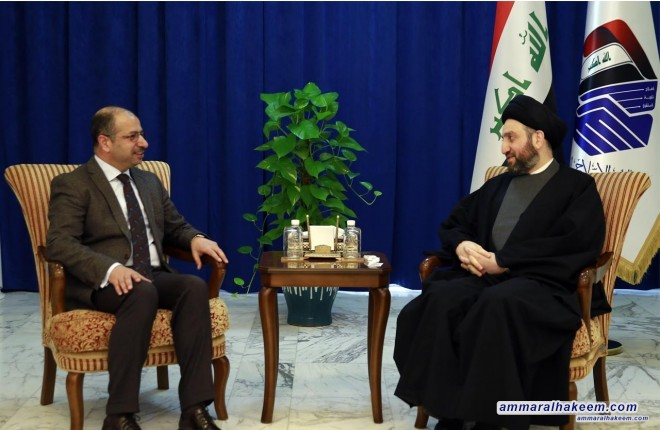 Meeting with Jubouri .. Sayyid Ammar stresses to address crises with dialogue and willingness to find solutions