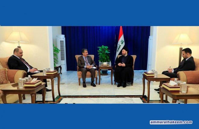 السيد عمار الحكيم يبحث مع السفير الكويتي مستجدات الوضع السياسي في المنطقة