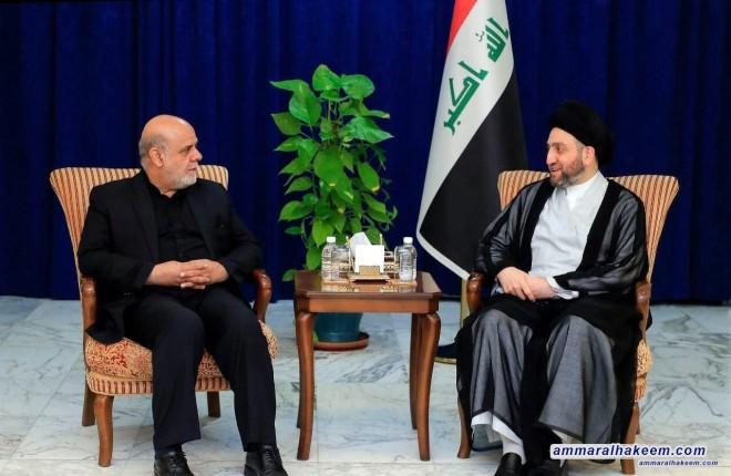 السيد عمار الحكيم يستقبل السفير الايراني ويبحث معه مستجدات الملفات السياسية والعلاقات الثنائية