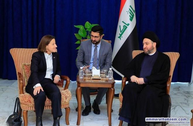 السيد عمار الحكيم يشيد بالوعي العالي لشباب العراق ومطالبتهم بحقوقهم