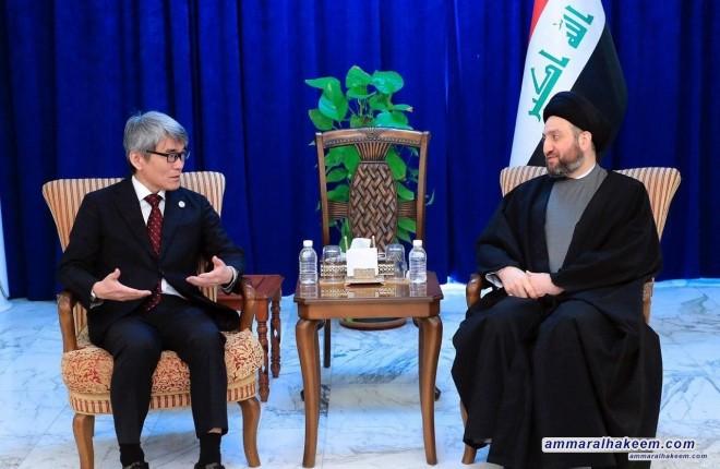 السيد عمار الحكيم : التظاهرات دليل على صحة النظام السياسي الديمقراطي في العراق