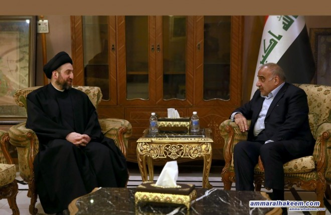 Sayyid Ammar al-Hakim meets Mr. Abdul-Mahdi to discuss latest developments in the political situation