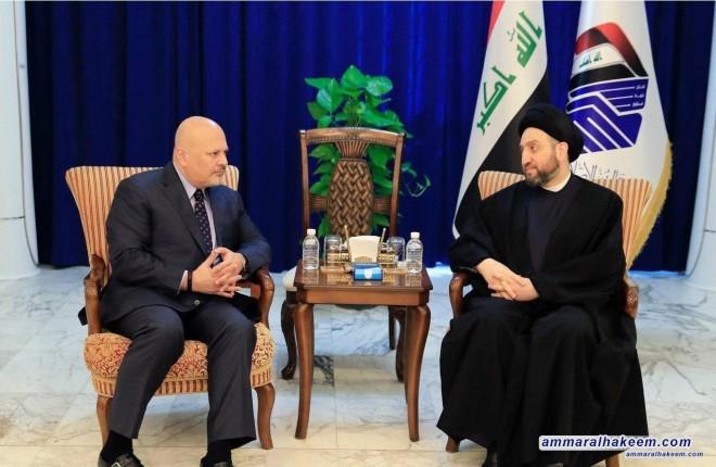 السيد عمار الحكيم يستقبل رئيس الفريق الاممي للمساءلة عن جرائم داعش الارهابي