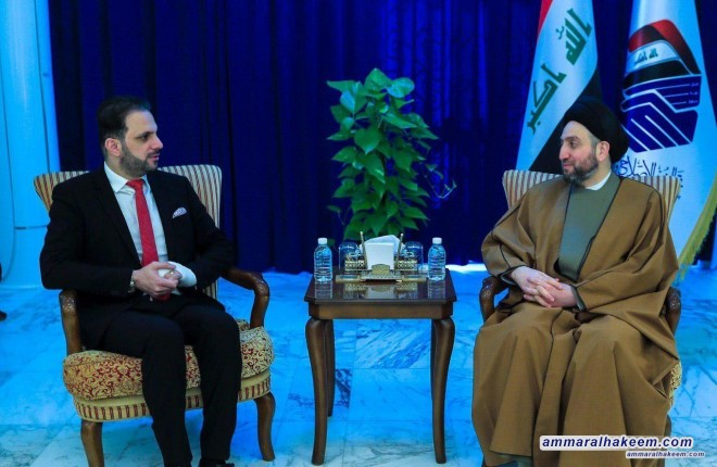 Sayyid Ammar al-Hakim receives head of the New Generation party and stresses on priorities