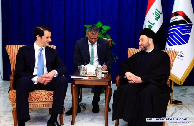 Sayyid Ammar al-Hakim receives US Assistant Secretary of State to discuss latest political situation in Iraq and the region