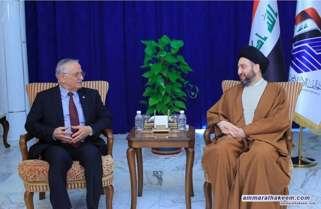 Sayyid Ammar al-Hakim receives Yonadam Kanna to discuss reconstruction of liberated cities and community harmony