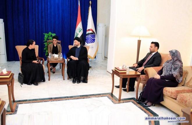 السيد عمار الحكيم يستقبل سفيرة نيوزلندا في بغداد ويشيد بموقف حكومتها في التعامل مع حادثة المسجدين في نيوزلندا