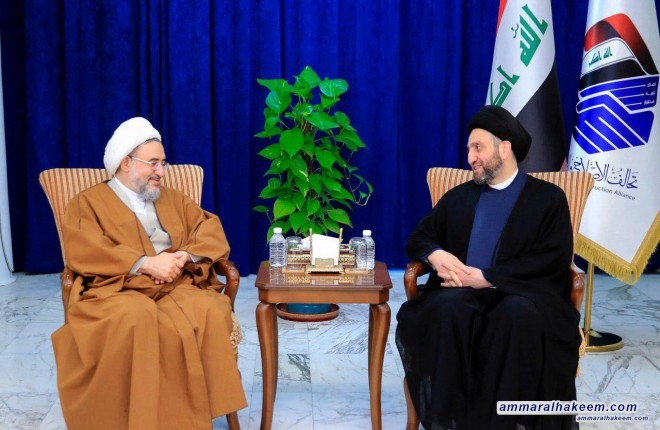 Sayyid Ammar Al-Hakim receives Sheikh Araki, Secretary-General of the The World Forum for Proximity of Islamic Schools of Thought