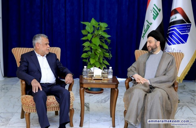 Sayyid Ammar al-Hakim receives Amiri and stresses the need to implement passages of government program