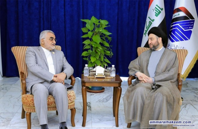 Sayyid Ammar al-Hakim to Boroujerdi : Baghdad Summit of Parliaments of Iraq Neighboring Countries establishes a common vision on various issues