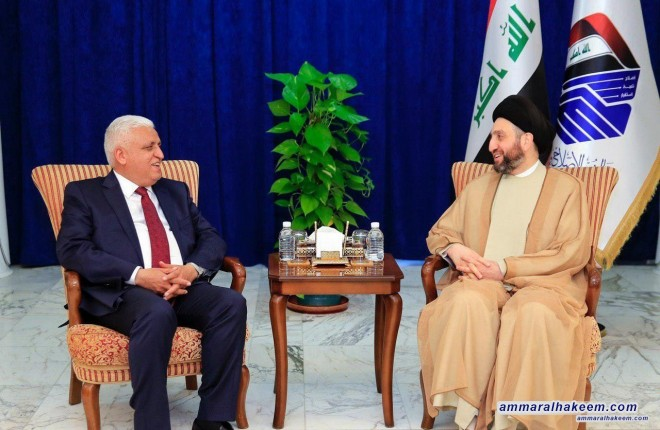Sayyid Ammar al-Hakim receives al-Fayadh and stresses the need to maintain community security