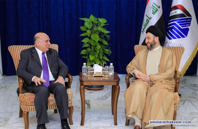 Sayyid Ammar al-Hakim with Deputy Prime Minister to stress the need to adopt a balanced funding policy