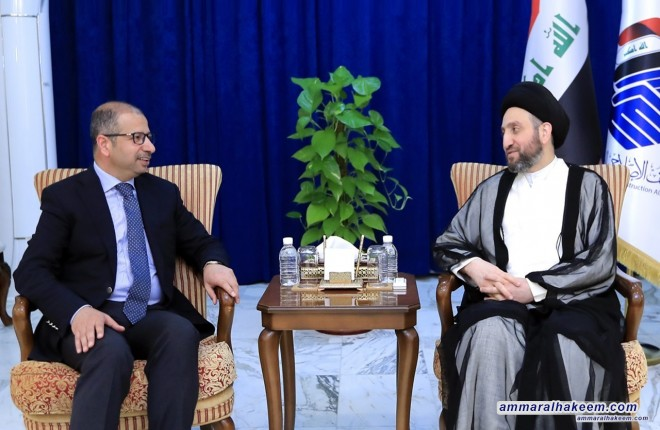 السيد عمار الحكيم يستقبل الدكتور سليم الجبوري ويبحث معه مستجدات الوضع السياسي