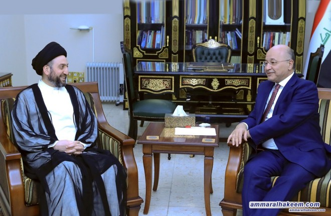 Sayyid Ammar al-Hakim meets the President Iraq to discuss latest developments in the political situation