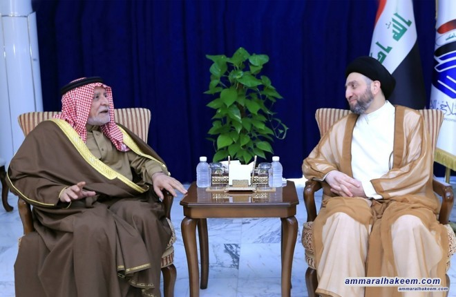 Sayyid Ammar al-Hakim with Humaim to discuss the role of the religious institution in promoting social harmony