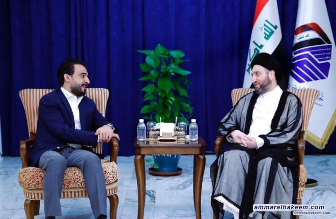 Meeting with Speaker of the Council of Representatives, Sayyid Ammar al-Hakim emphasize to enacting civic laws