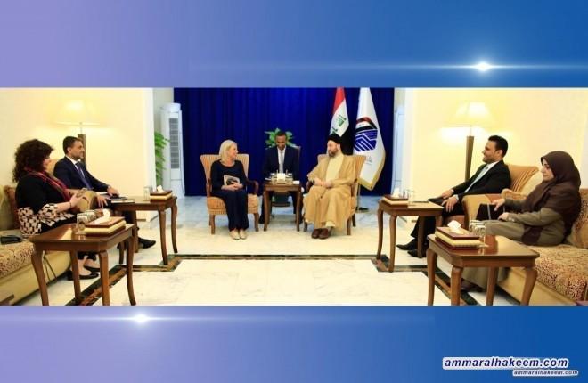 السيد عمار الحكيم يدعو الأمم المتحدة لأن يكون لها دور أكبر في حل اشكاليات المنطقة