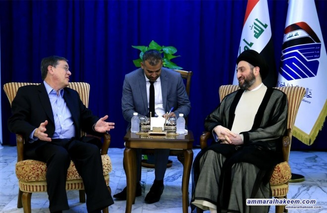 Sayyid Ammar al-Hakim with the American Foreign Affairs Iraq's neutrality, independent decision, and rejection to be a platform to attack others