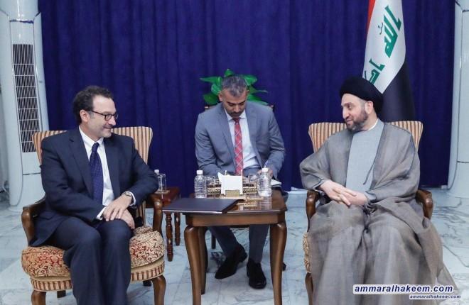 السيد عمار الحكيم يدعو للتهدئة وترجمة رفض الحرب في المنطقة الى افعال ملموسة