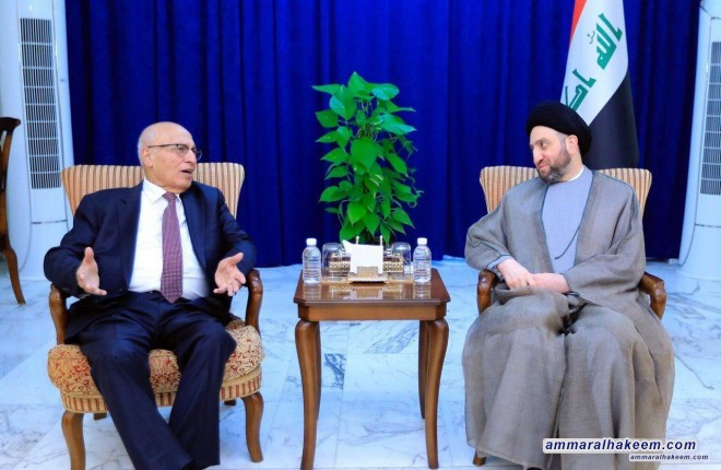 Sayyid Ammar al-Hakim with envoy of the Palestinian President to discuss latest developments in the Palestinian Issue and political reality in the region