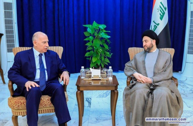 Sayyid Ammar al-Hakim receives the head of the Iraqi Decision Alliance, Mr. Osama al-Nujaifi to discuss general developments of the Iraqi political scene