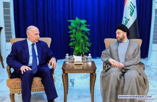 السيد عمار الحكيم يستقبل رئيس تحالف القرار العراقي اسامة النجيفي ويبحث معه مجمل تطورات المشهد السياسي العراقي