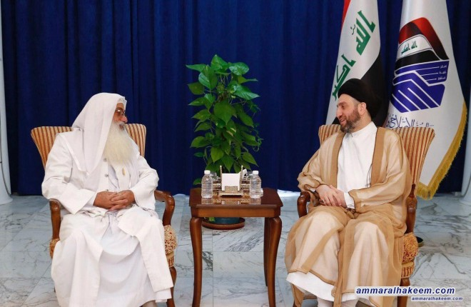 Sayyid Ammar al-Hakim assures to head of Sabean-Mandaean Community the importance of preserving the rights of the Sabeans component and consolidate civil peace