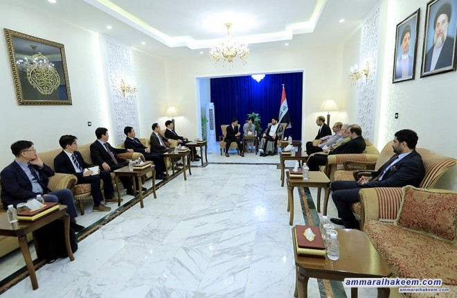 Sayyid Ammar al-Hakim receives advisor of the South Korean president to discuss Baghdad and Seoul bilateral relations