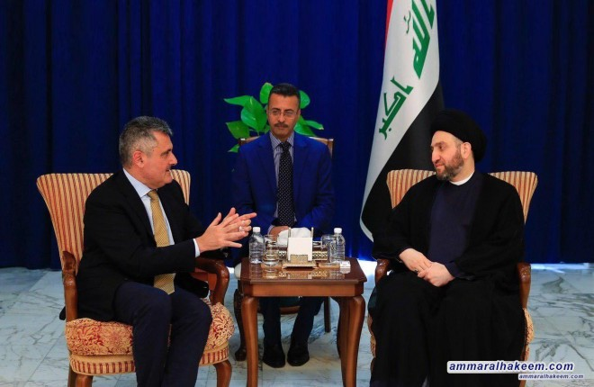 Sayyid Ammar Al-Hakim receives the Italian Ambassador to discuss political situation in Iraq and the region