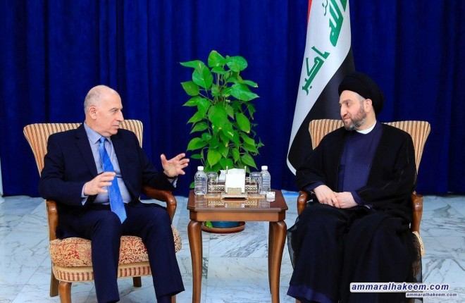 Sayyid Ammar al-Hakim receives Salvation and Development Front delegation headed by Nujaifi, stresses the need for moderate discourse in Iraq