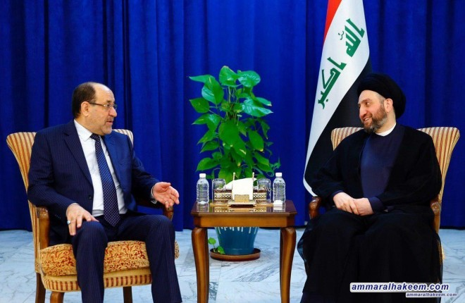Sayyid Ammar al-Hakim receives al-Maliki to discuss developments of the political situation