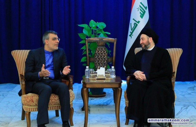 Sayyid Ammar al-Hakim receives Iranian Deputy Foreign Minister Hossein Jaberi