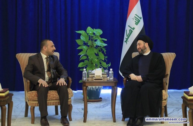 Sayyid Ammar al-Hakim praises the heroic and historical role of the people of Balad district