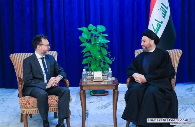 السيد عمار الحكيم يبحث مع السفير الكندي مستجدات الوضع السياسي في العراق والمنطقة