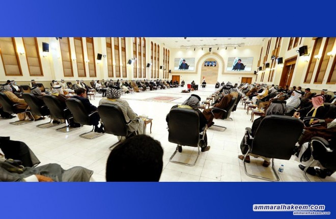 السيد عمار الحكيم يحذر من مخططات تسعى لضرب الرمزية في مدن الجنوب لابقاء المشاكل عصية على الحل