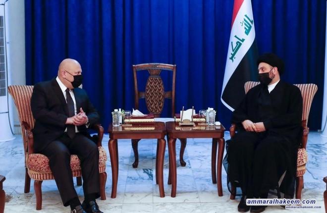 السيد عمار الحكيم يستقبل رئيس الفريق الاممي المختص بالتحقيق بجرائم داعش