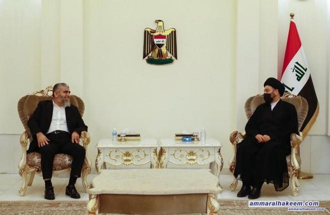 السيد عمار الحكيم يبحث مع الشيخ بابير مستجدات الاوضاع السياسية والعلاقة بين بغداد واربيل