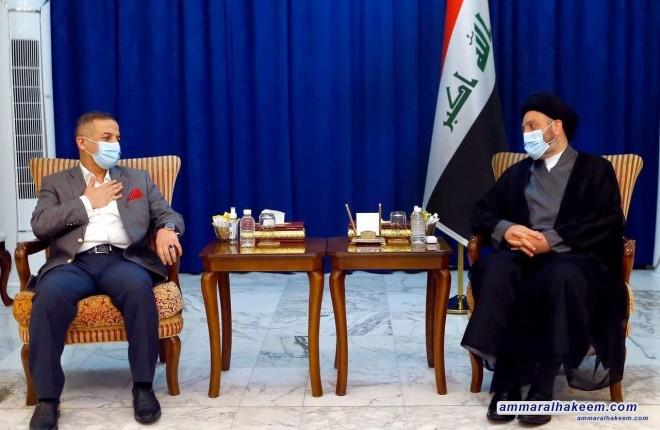 السيد عمار الحكيم يستقبل وفد تحالف القوى برئاسة الاستاذ محمد تميم