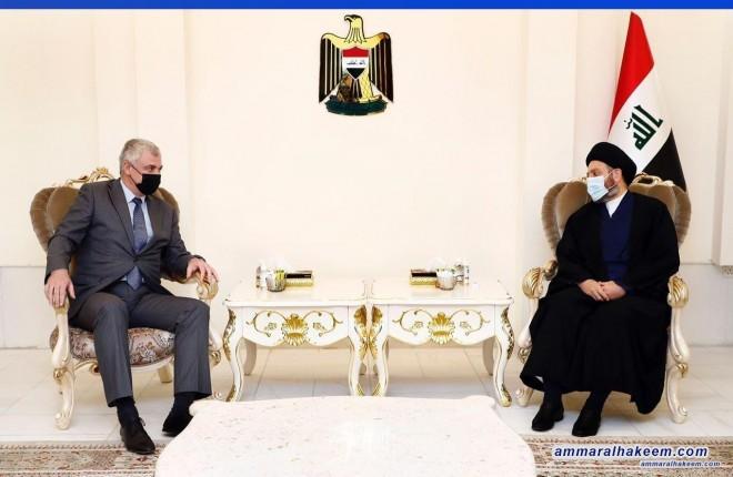 السيد عمار الحكيم يستقبل السفير الروسي ويبحث معه تطورات المشهد السياسي اقليميا ودوليا