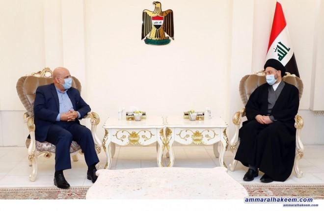 السيد عمار الحكيم يبحث مع السفير الايراني تطورات المشهد السياسي اقليميا ودوليا