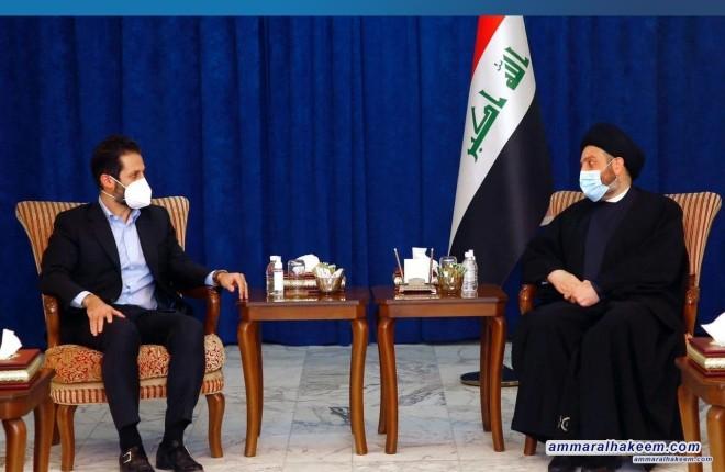 السيد عمار الحكيم يدعو لاستحضار ارادة الحل في المشاكل العالقة بين بغداد واربيل ومغادرة الحلول الترحيلية