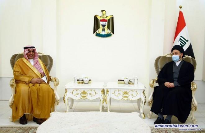 السيد عمار الحكيم يبحث مع السفير السعودي العلاقات الثنائية بين بغداد والرياض