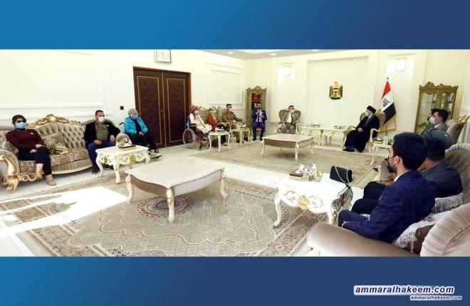 السيد عمار الحكيم يدعو تجمع المعاقين لدعم من يرونه مناسبا في الانتخابات القادمة