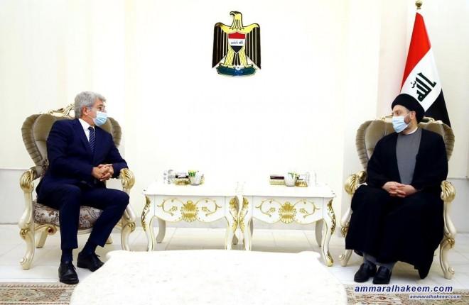 السيد عمار الحكيم يبحث مع السفير الفرنسي تطورات المشهد السياسي عراقيا ومحليا