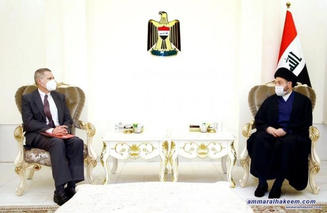 السيد عمار الحكيم للسفير الاميركي .. حماية البعثات الدبلوماسية جزء من احترام الدولة العراقية